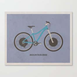 Mountain Bike (with text) Canvas Print