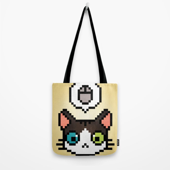 Pixel cat Tote Bag