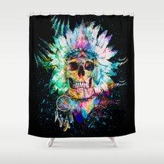 SKULL WILD S. Shower Curtain