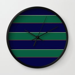 Rugby Shirt Pattern Wall Clock