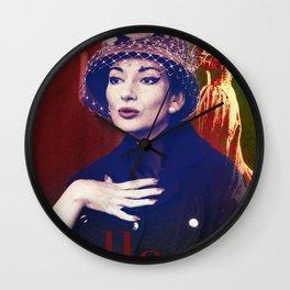 Maria Callas portrait III Wall Clock