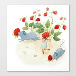Strawberry Thieves Canvas Print
