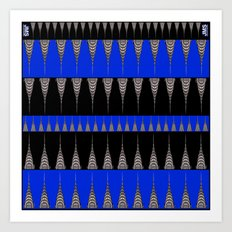 Chrysler Building Pattern in Blue and Black Art Print