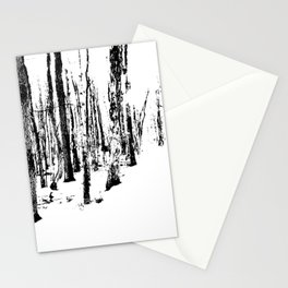 Trees in the Snow (B&W) Stationery Cards