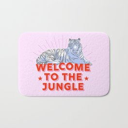 welcome to the jungle - retro tiger Bath Mat
