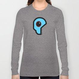 Futuristic Cyborg Logo 4 Long Sleeve T-shirt