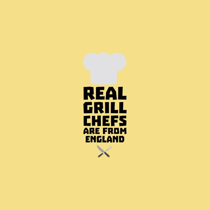 Real Grill Chefs are from England T-Shirt Dqqk3 Duvet Cover