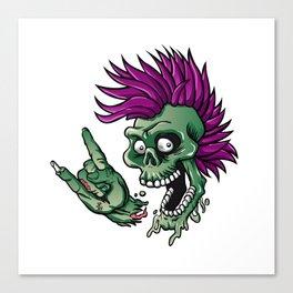 Punk zombie Canvas Print