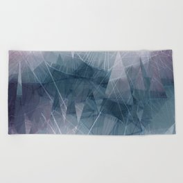 Ameythist Crystal Inspired Modern Abstract Beach Towel