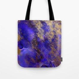 Modern Royal Blue and Gold Abstract Tote Bag