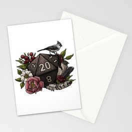 Druid Class D20 - Tabletop Gaming Dice Stationery Cards