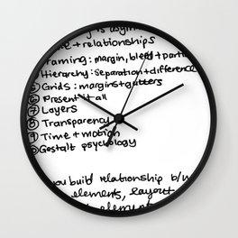 Ellen Lupton's principles Wall Clock