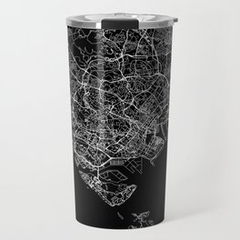 Singapore Black Map Travel Mug