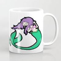 mermaids Mugs featuring Mermaids by Stella Vee