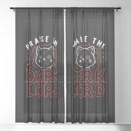 Praise The Dark Lord Sheer Curtain