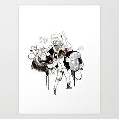 Paris Riots Art Print
