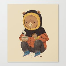 noodle bear Canvas Print