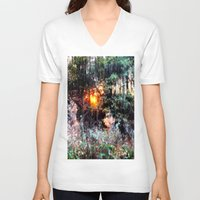 fairies V-neck T-shirts featuring Where Fairies Live by 2sweet4words Designs