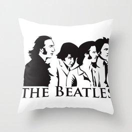 Paul, John, George and Ringo Throw Pillow