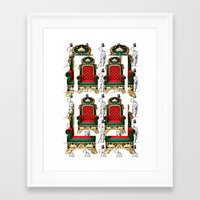 thrones Framed Art Prints featuring Empty Thrones by Keith Cameron