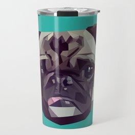 "Pug Graphic Design. ""Bijou"" Travel Mug"