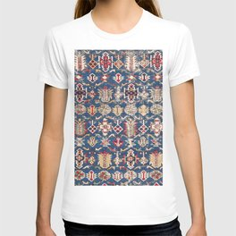 Royal Blue Western Star 19th Century Authentic Colorful Dusty Blue Yellow Vintage Patterns T-shirt