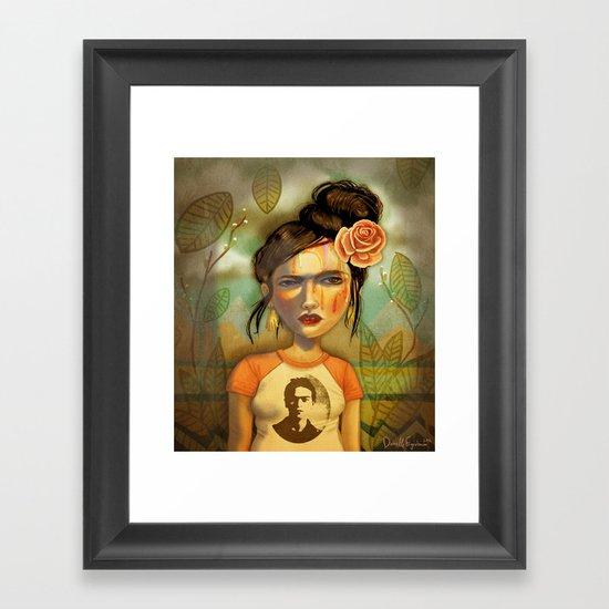 Frida Bomb Framed Art Print