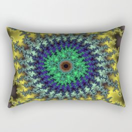 Fractal Target Rectangular Pillow