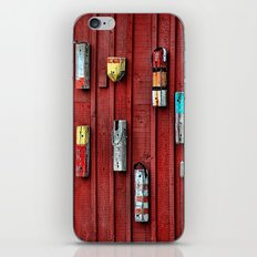 Red Wall Buoy iPhone & iPod Skin