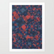 Blue Tile Art Print