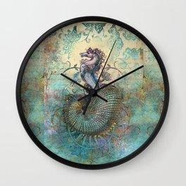 The Seahorse Diary Wall Clock