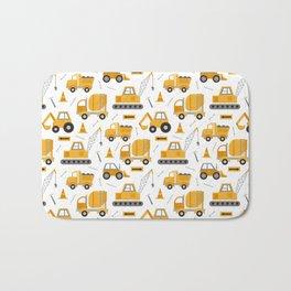 Construction Trucks Bath Mat