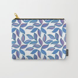 Watercolor Leafs Contour Lines. Vector Art, Seamles Carry-All Pouch