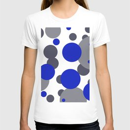Bubbles blue grey- white design T-shirt