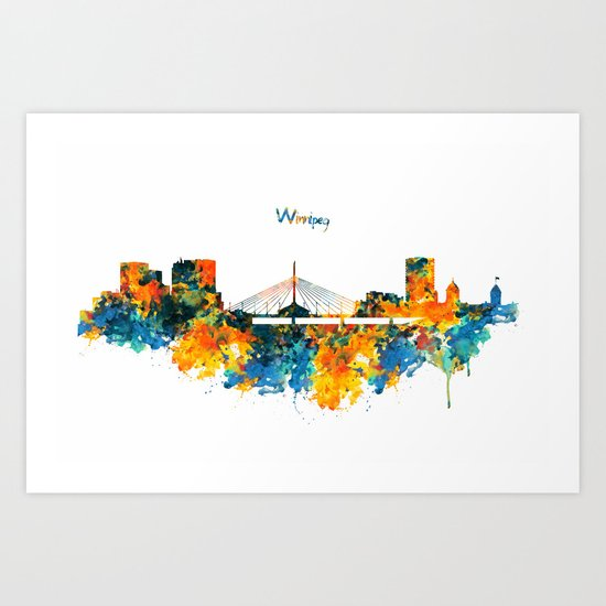 Winnipeg Skyline Art Print