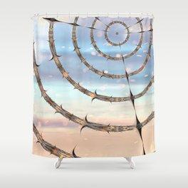 Behind Shower Curtain