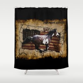 The Pony Express Shower Curtain