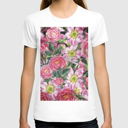 Vintage & Shabby-chic - floral dog roses flowers rose flower T-shirt