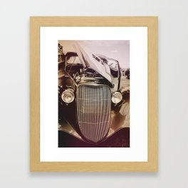 Classic Car with Side Open Hood Framed Art Print