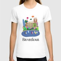 barcelona T-shirts featuring Barcelona  by uzualsunday