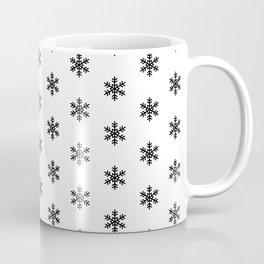 Snowflakes Black on White Coffee Mug