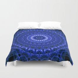 Dark blue mandala Duvet Cover