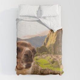 Llama #selfie Comforters