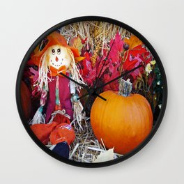 Little Mister Scarecrow Wall Clock