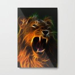 Panthera Leo Metal Print