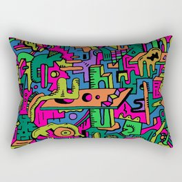 multidimensional maze Rectangular Pillow