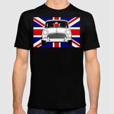 Classic Mini. Black X-LARGE Mens Fitted Tee
