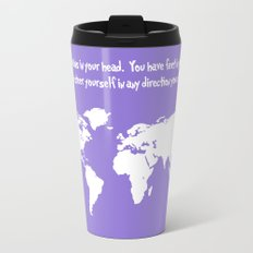 World Map with Dr. Seuss Quote Travel Mug