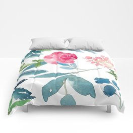 Floral on White Comforters