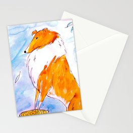 Collie Stationery Cards